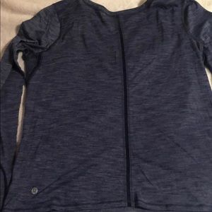 Lulu lemon sheer blue workout shirt